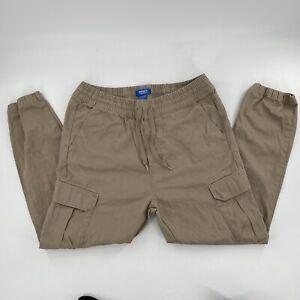 Adidas Cargo Pants Joggers Tan Brown Skateboarding Size 36x30