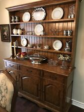 Country French Solid Fruitwood Hutch And Buffet Cabinet Custom Made