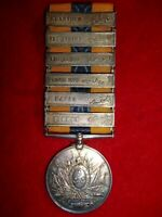 Khedive's Sudan Medal 1896-1908, (6) clasps, in arabic to 10th Sudanese Infantry