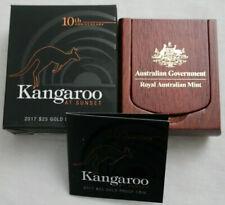 💰2017 Kangaroo at Sunset $25 1/5oz Gold Proof Coin- RAM - Ballot Coin # 869