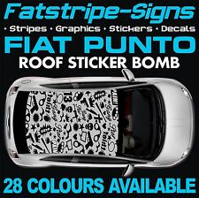 FIAT PUNTO GRAPHICS VINYL STICKER BOMB ROOF DECALS STICKERS EVO GRANDE ABARTH