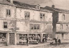 Mark Akenside's birthplace, Butcher Bank, Newcastle-upon-Tyne. DUGDALE 1845