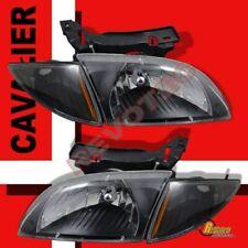 00-02 Chevy Cavalier Z24 Black OE Style Headlights + Corner Signal Lights