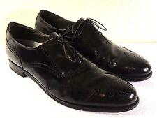 Vintage Dexter men's Black Leather Wing Tip Dress Shoes Size US 14 M Made in USA