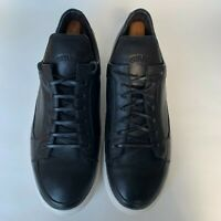 GUIVRE HOMME Men's Sneakers Black Leather Casual Shoes Size 11.5