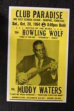 Muddy Waters 1964 Tour Poster Club Paradise Howling Wlf