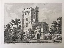 1785 stampa; Cappella O PAPA's Tower a Stanton Harcourt, Oxfordshire