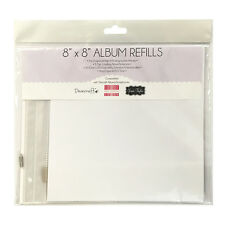 Dovecraft 8 x 8  Album Refill pack 5 sheets Top Loading Snapload or Screwpost