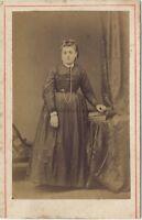 Lebon Fotografia A Boulogne-Sur-Mer Francia Foto Formato CDV Vintage Albumina