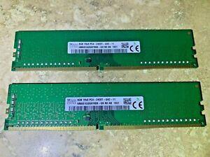 Lot of 2 Hynix =16GB (2 x 8GB) DDR4 PC4-2400T Desktop Memory HMA81GU6AFR8N-UH