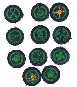 COLLECTION OF VINTAGE  GIRL GUIDES   PROMISE BADGES