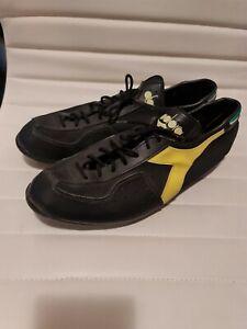 Diadora Skywalk Black and yellow Eu46 Mens 11 - Made in Italy
