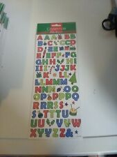 STICKERS FOR MAKE CARDS/CRAFTS  NEW 28X12 CM CHRISTMAS/LETTERS