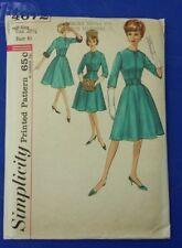VINTAGE SIMPLICITY LADIES HAT MUFF DRESS PATTERN 4672 SIZE 20.5 FREE SHIPPING
