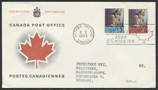 1969 #502-503 Christmas FDC CP Presentation Cachet, French Letter to Denmark