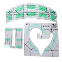 Non-Slip Quilt Ruler Arc Ruler Heart Ruler Patchwork Quilting Template Set  Q3S2