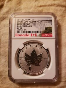 2016 Canada Maple Leaf Bigfoot Privy Early Releases Pf69 NGC