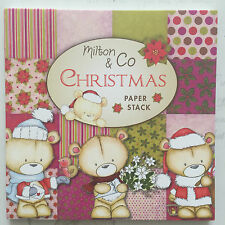 """Milton & Co - 6x6"""" CHRISTMAS COLLECTION - 36 Sheets 12 designs Paper Pad Stack"""