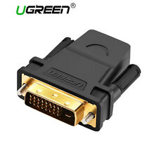 UGREEN DVI-D 24+1 Male to HDMI Female M-F Adapter Converter Fr HDTV LCD Monitor