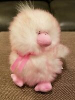 2001 COMMONWEALTH TOY  PINK/WHITE PLUSH SQUEAKY CHICK FREE SHIPPING