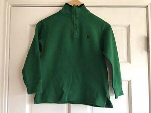G25 Polo Ralph Lauren Green 1/4 Zip Sweater Boys Small 8