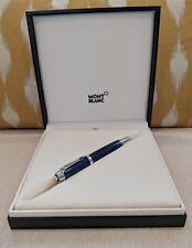Montblanc Boheme Paso Doble Bleu Platinum Roller-Ball Pen 104920