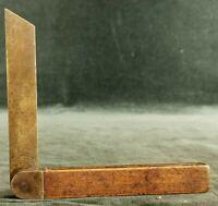 Antique rosewood & brass adjustable sliding bevel carpenter's tool marked London