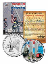 WORLD TRADE CENTER * 11th Anniversary * NEVER FORGET 9/11 NY Quarter US Coin WTC