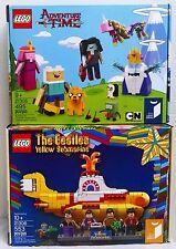 Lego Ideas Sets 21306 The Beatles Yellow Submarine & 21308 Adventure Time