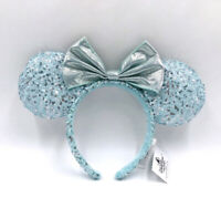 Retired Disney Parks 2020 Minnie Ears Blue Frozen Arendelle Aqua Headband