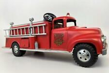 Vintage TONKA Toys 1950s Ford Cab Suburban Pumper Hose No 5 Fire Tin Litho Truck