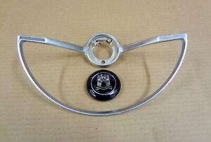 1962-71 GENUINE VW Steering Wheel Horn Ring Button Medallion Center Cap Emblem