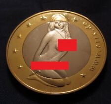 SEX EUROS COIN Gold Silver Lady Europe Only EU Brexit European Union Girl Boris