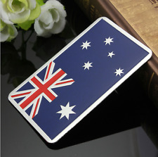 "ALUMINUM Australia Flag Emblem Sticker 3D Decal For Auto, Car, Truck 3.15""x2"""