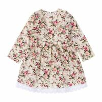 Newest Toddler Baby Girls Kids Tutu Party Princess Pageants Wedding Long Sleeves