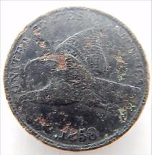 1858 Flying Eagle One Cent Penny, Large Letters, Very Nice Circulated,   #B78