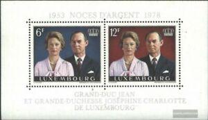 Luxemburgo Bloque 11 (edición completa) nuevo 1978 Bodas de plata