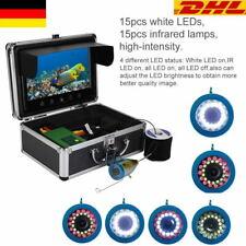 """9 """" 30m 30 LEDs Fisch Finder Unterwasser Eis Angeln Infrarot 1000TVL LCD Kamera~"""