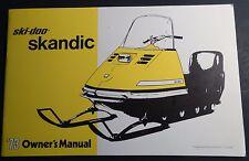 RARE 1973 SKI-DOO SKANDIC SNOWMOBILE OWNERS  MANUAL NEW & NICE  (637)