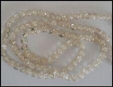 8mm Glass CRACKLE Round Beads x 110 CLEAR Crafts Suncatcher Jewellery