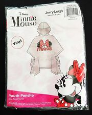 """Disney - Minnie Mouse Family - """"Minnie"""" Ears Bow Youth Hooded Clear Rain Poncho"""