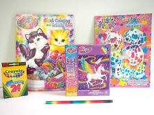 Lisa Frank, Paint with Water, Color Book, Puzzle, Crayons, Pencil