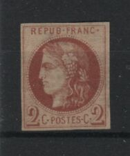 "France Yvert 40Af "" Ceres Bordeaux 2c Fine Printing From Tours""Mng F Signed R511"