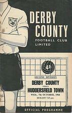 DERBY COUNTY V HUDDERSFIELD TOWN ~ 7 OCTOBER 1964