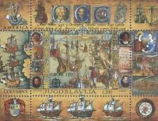 Yugoslavia 1992 Mi BL 41 ** Kolumb Columbus Ships Schiffe Statki Okręty