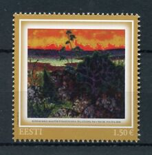 Estonia 2017 MNH Konrad Magi Landscape with Red Cloud 1v Set Art Stamps