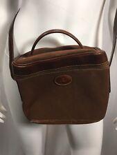 Bonia Cross Body Bucket Purse Dark Brown Leather Serial 803-015-2-3