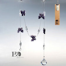1pc Hanging Crystal Butterfly Beads Curtains Ball Prisms Chains Pendant Decor 1m