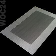 Tischset Platzmatte Platzdeckchen Platzset abwaschbar SILBER-GRAU Kunststoff