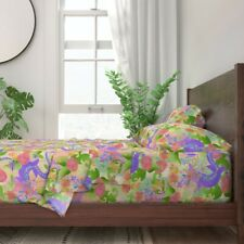 Dragon Mythological Fantasy Myth 100% Cotton Sateen Sheet Set by Roostery